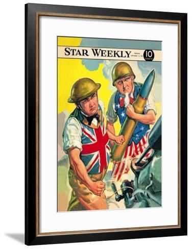Star Weekly: Ally Artillery--Framed Art Print