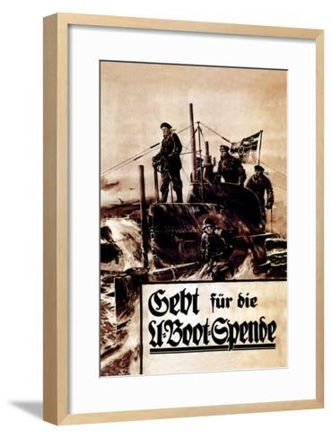 Give to the Submarine Fund--Framed Art Print