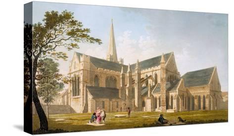 Saint Patrick's Cathedral, Dublin, 1793-James Malton-Stretched Canvas Print