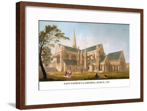 Saint Patrick's Cathedral, Dublin, 1793-James Malton-Framed Art Print