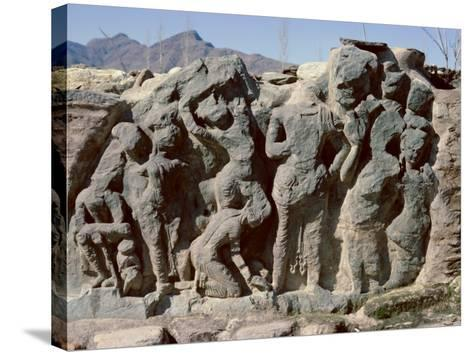 Butkara Ruins, Swat Valley, North West Frontier Province, Pakistan, Asia-Robert Harding-Stretched Canvas Print