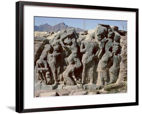 Butkara Ruins, Swat Valley, North West Frontier Province, Pakistan, Asia-Robert Harding-Framed Art Print