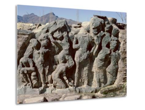 Butkara Ruins, Swat Valley, North West Frontier Province, Pakistan, Asia-Robert Harding-Metal Print