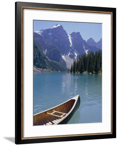 Lake Moraine, Rocky Mountains, Alberta, Canada-Robert Harding-Framed Art Print