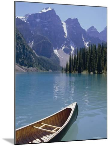 Lake Moraine, Rocky Mountains, Alberta, Canada-Robert Harding-Mounted Photographic Print