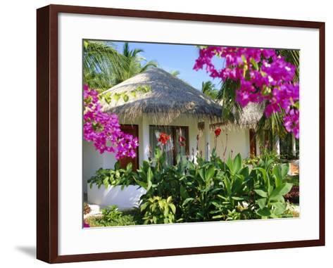 Hotel Accommodation, Baros, Maldive Islands, Indian Ocean-Robert Harding-Framed Art Print