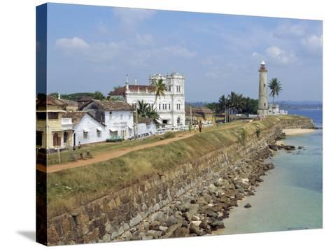 Colonial Buildings and Lighthouse, Galle, Sri Lanka-Robert Harding-Stretched Canvas Print