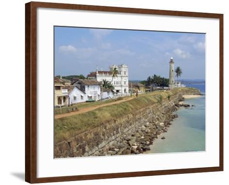 Colonial Buildings and Lighthouse, Galle, Sri Lanka-Robert Harding-Framed Art Print