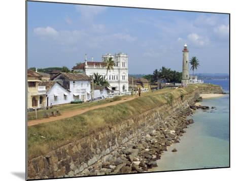 Colonial Buildings and Lighthouse, Galle, Sri Lanka-Robert Harding-Mounted Photographic Print