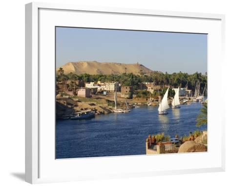 Elephantine Island and River Nile, Aswan, Egypt, North Africa-Robert Harding-Framed Art Print