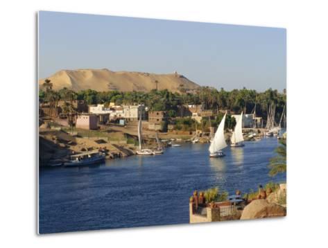 Elephantine Island and River Nile, Aswan, Egypt, North Africa-Robert Harding-Metal Print