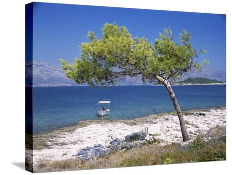 Deserted Island Beach, Lumbarda, Corcula (Korcula) Island, Southern Dalmatia, Croatia, Europe-Peter Higgins-Stretched Canvas Print