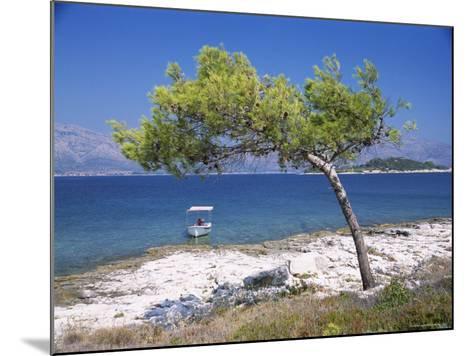 Deserted Island Beach, Lumbarda, Corcula (Korcula) Island, Southern Dalmatia, Croatia, Europe-Peter Higgins-Mounted Photographic Print