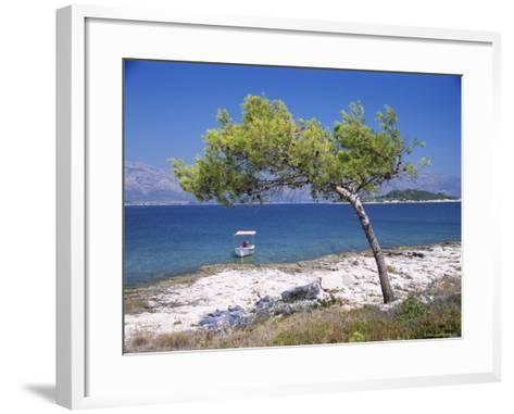 Deserted Island Beach, Lumbarda, Corcula (Korcula) Island, Southern Dalmatia, Croatia, Europe-Peter Higgins-Framed Art Print