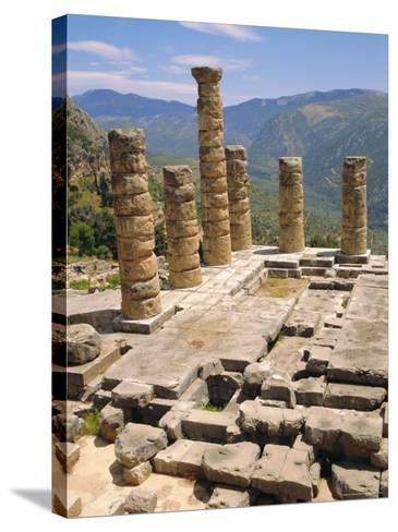 Temple of Apollo, Delphi, Greece, Europe-Ken Gillham-Stretched Canvas Print