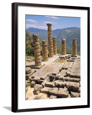 Temple of Apollo, Delphi, Greece, Europe-Ken Gillham-Framed Art Print