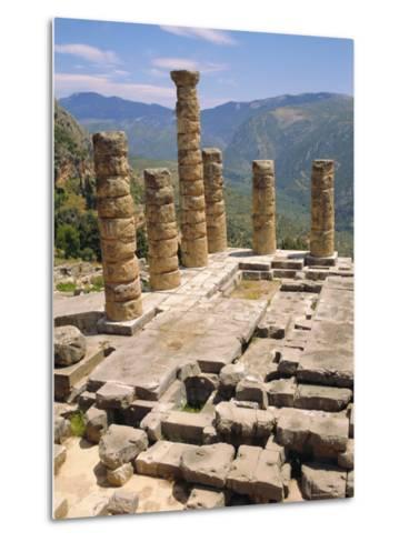 Temple of Apollo, Delphi, Greece, Europe-Ken Gillham-Metal Print