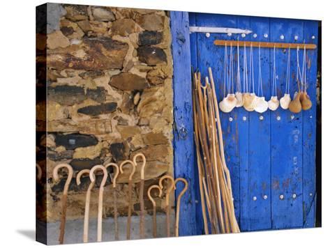 El Camino Pilgrimage to Santiago De Compostela, Scallop Shells and Walking Sticks, Galicia, Spain-Ken Gillham-Stretched Canvas Print