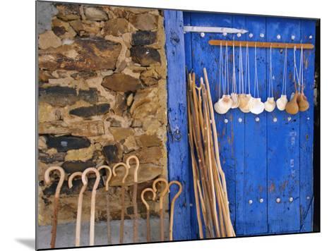 El Camino Pilgrimage to Santiago De Compostela, Scallop Shells and Walking Sticks, Galicia, Spain-Ken Gillham-Mounted Photographic Print
