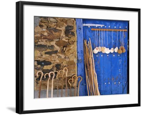 El Camino Pilgrimage to Santiago De Compostela, Scallop Shells and Walking Sticks, Galicia, Spain-Ken Gillham-Framed Art Print