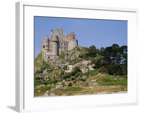 St. Michael's Mount, Castle, Cornwall, England, UK-Ken Gillham-Framed Art Print