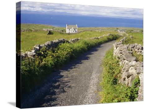 Country Road, Inishmore, Aran Islands, County Galway, Connacht, Republic of Ireland (Eire), Europe-Ken Gillham-Stretched Canvas Print