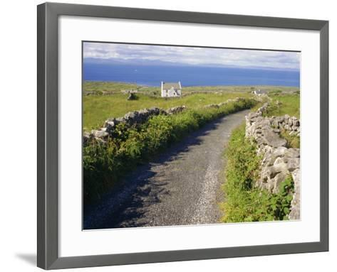 Country Road, Inishmore, Aran Islands, County Galway, Connacht, Republic of Ireland (Eire), Europe-Ken Gillham-Framed Art Print