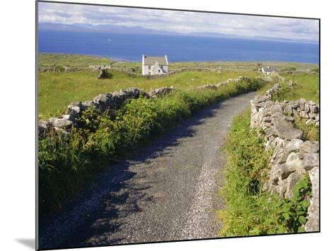 Country Road, Inishmore, Aran Islands, County Galway, Connacht, Republic of Ireland (Eire), Europe-Ken Gillham-Mounted Photographic Print