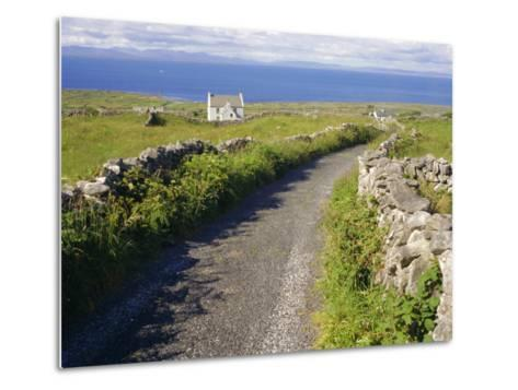 Country Road, Inishmore, Aran Islands, County Galway, Connacht, Republic of Ireland (Eire), Europe-Ken Gillham-Metal Print