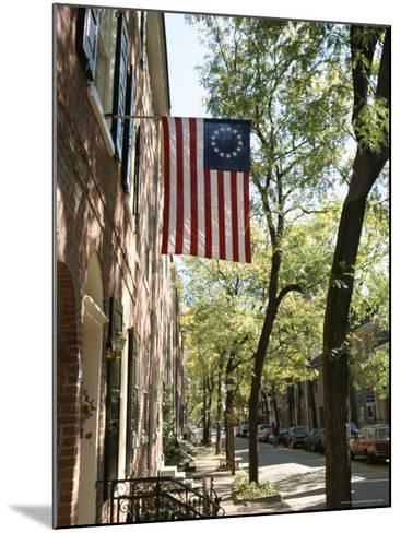 Historic Flag, Society Hill, Philadelphia, Pennsylvania, USA-Ken Gillham-Mounted Photographic Print
