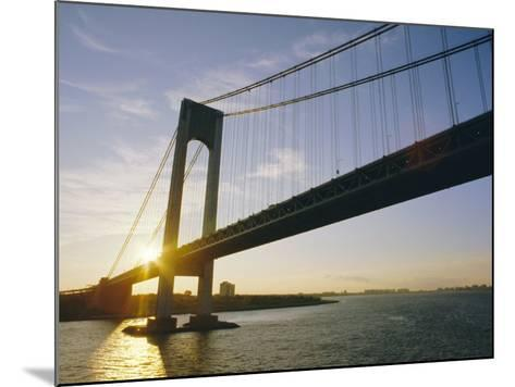 Verrazano Narrows Bridge, Approach to the City, New York, New York State, USA-Ken Gillham-Mounted Photographic Print