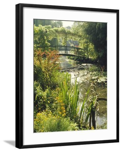 Waterlily Pond and Bridge in Monet's Garden, Giverny, Haute Normandie (Normandy), France, Europe-Ken Gillham-Framed Art Print
