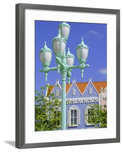 Typical Pastel Shades on Mock Dutch Architecture, Aruba, Dutch Antilles, Caribbean, West Indies-Ken Gillham-Framed Art Print