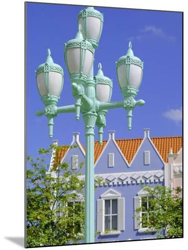 Typical Pastel Shades on Mock Dutch Architecture, Aruba, Dutch Antilles, Caribbean, West Indies-Ken Gillham-Mounted Photographic Print