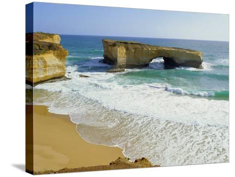 London Bridge, Coastal Feature Along the Great Ocean Road, Victoria, Australia-Peter Scholey-Stretched Canvas Print