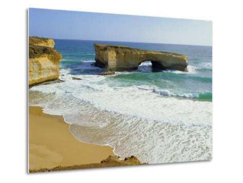 London Bridge, Coastal Feature Along the Great Ocean Road, Victoria, Australia-Peter Scholey-Metal Print