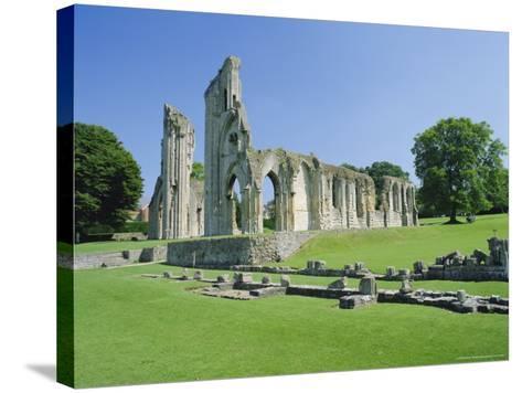 The Ruins of Glastonbury Abbey, Glastonbury, Somerset, England, UK-Christopher Nicholson-Stretched Canvas Print