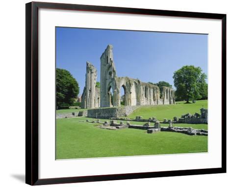 The Ruins of Glastonbury Abbey, Glastonbury, Somerset, England, UK-Christopher Nicholson-Framed Art Print