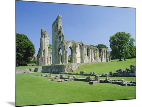 The Ruins of Glastonbury Abbey, Glastonbury, Somerset, England, UK-Christopher Nicholson-Mounted Photographic Print