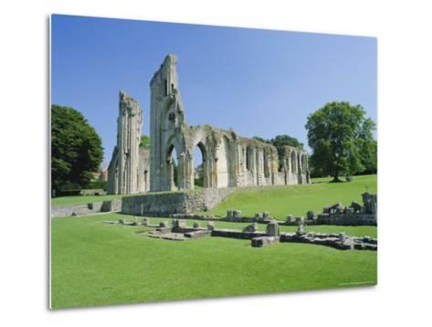 The Ruins of Glastonbury Abbey, Glastonbury, Somerset, England, UK-Christopher Nicholson-Metal Print