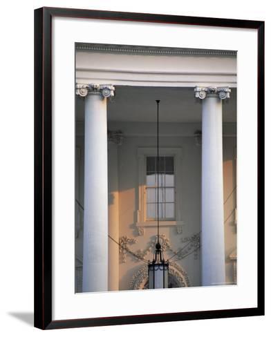 Detail of the White House, Washington D.C., United States of America (U.S.A.), North America-Jonathan Hodson-Framed Art Print