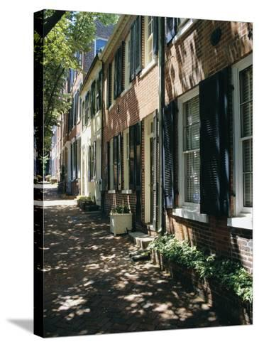 Captain's Row, Alexandria, Virginia, USA-Jonathan Hodson-Stretched Canvas Print