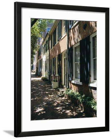 Captain's Row, Alexandria, Virginia, USA-Jonathan Hodson-Framed Art Print