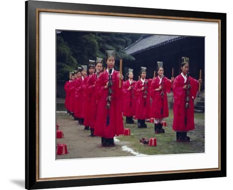 Confucian Ceremony, Chonghyo Shrine, Seoul, South Korea, Korea, Asia-Alain Evrard-Framed Art Print