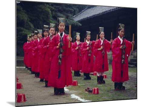 Confucian Ceremony, Chonghyo Shrine, Seoul, South Korea, Korea, Asia-Alain Evrard-Mounted Photographic Print