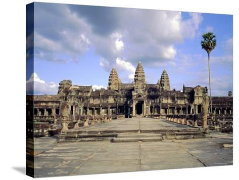 The Temple of Angkor Wat, Angkor, Siem Reap, Cambodia-Tim Hall-Stretched Canvas Print