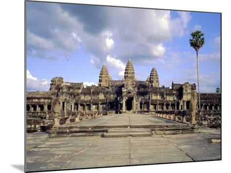 The Temple of Angkor Wat, Angkor, Siem Reap, Cambodia-Tim Hall-Mounted Photographic Print