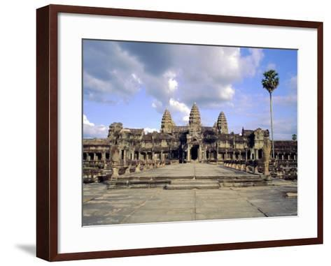 The Temple of Angkor Wat, Angkor, Siem Reap, Cambodia-Tim Hall-Framed Art Print