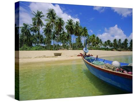 Deserted Beach on South Coast, Phu Quoc Island, Vietnam-Tim Hall-Stretched Canvas Print