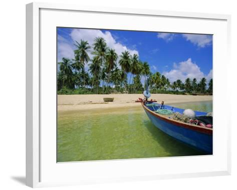 Deserted Beach on South Coast, Phu Quoc Island, Vietnam-Tim Hall-Framed Art Print